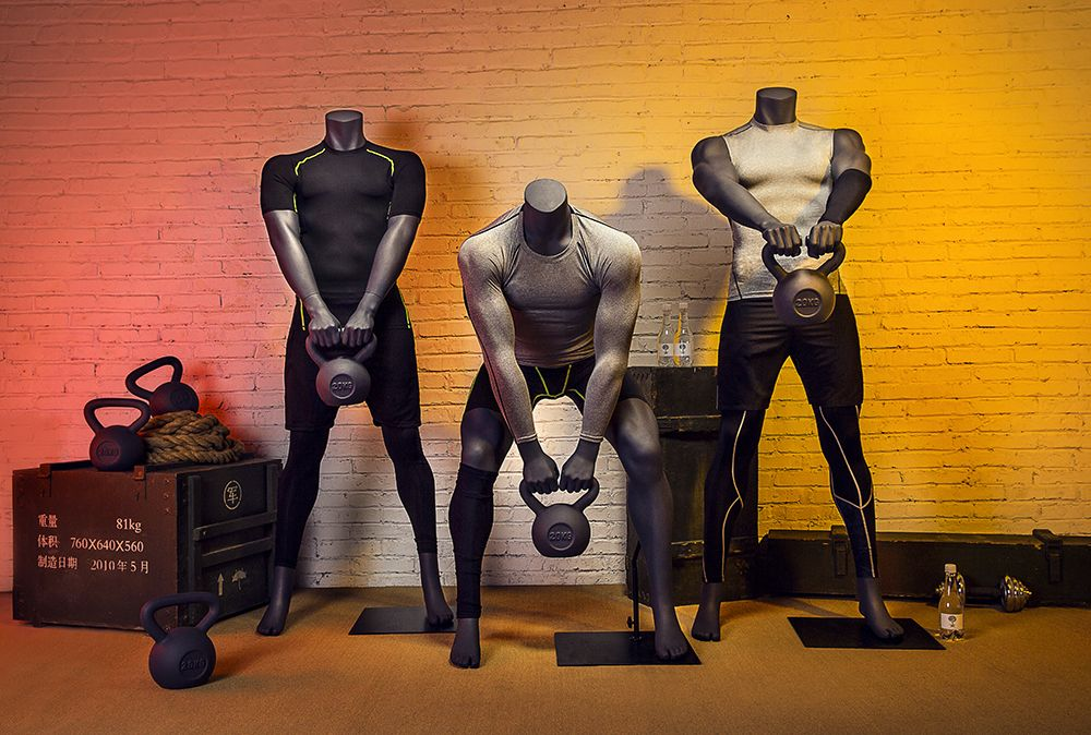 Mannequins female and male abstract Blend