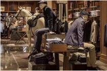 Men's clothing shop window