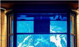 The classic scene of the summer window - ocean