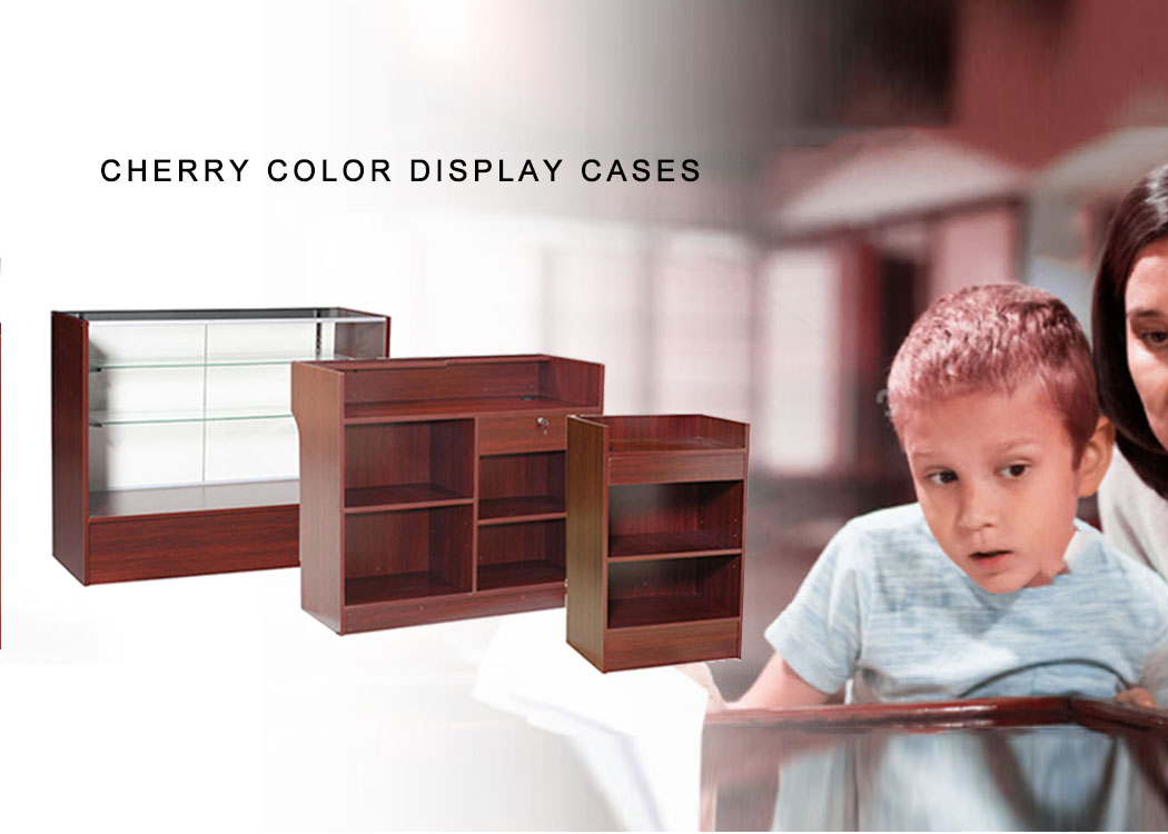 Cherry Color Display Cases
