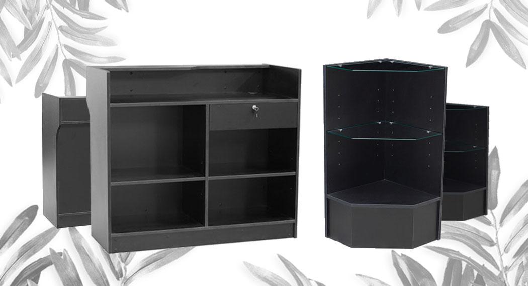 Black Color Display Cases