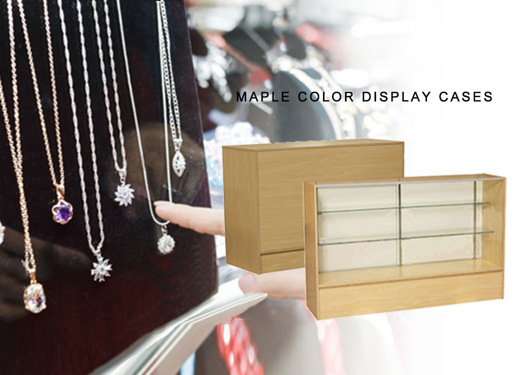 Maple Color Display Cases
