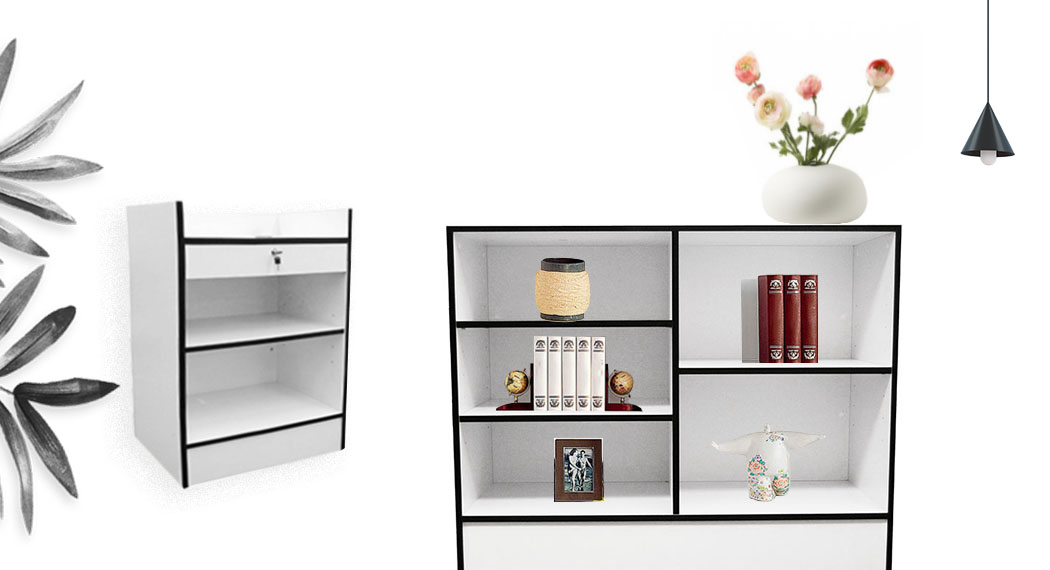 White Color Display Cases