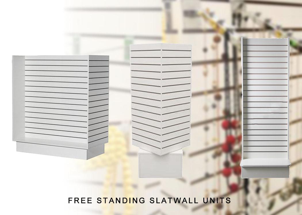 Free Standing Slatwall Units