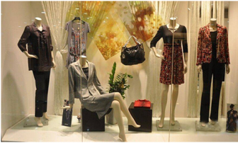 Precautions for display of clothing store windows